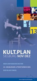 Kult.Plan Siegburg - November / Dezember (pdf )