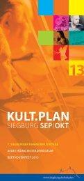 Kult.Plan Siegburg - September / Oktober (pdf )