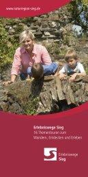 Erlebniswege Sieg Erlebniswege Sieg 16 ... - Naturregion Sieg