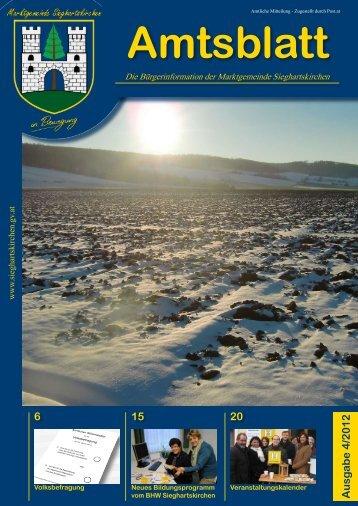 Amtsblatt Nr. 4/2012 - Sieghartskirchen