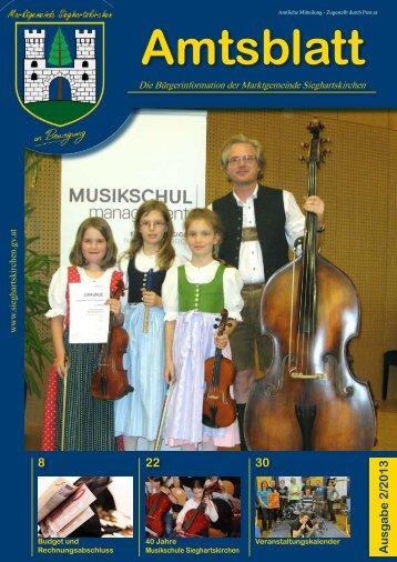 Amtsblatt 2/2013 - Sieghartskirchen