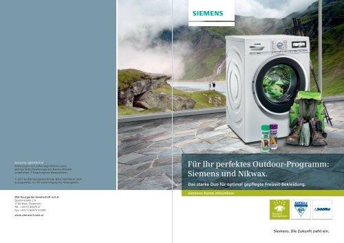 Für Ihr perfektes Outdoor-Programm: Siemens und Nikwax.