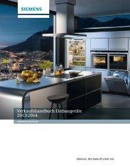 Verkaufshandbuch Einbaugeräte 2013/2014 - Siemens