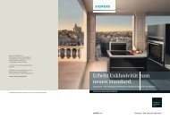 studioLine – die Einbaugeräte - Siemens