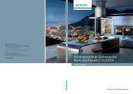 Geräteprogramm Einbaugeräte Küchenfachhandel 2013 ... - Siemens