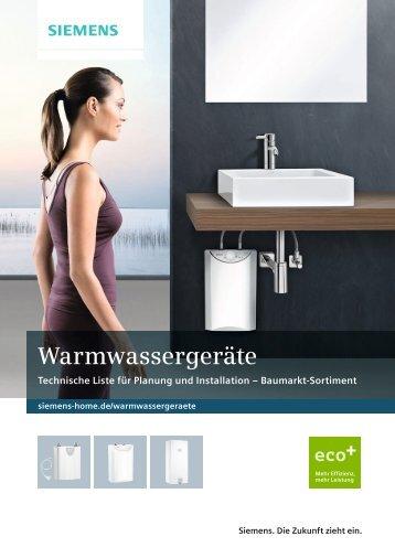 Warmwassergeräte - Siemens