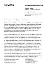 Presseinformation: Siemens stattet kompaktes RFID-System mit IO ...