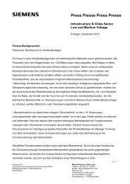 Hintergrund: Präventiver Brandschutz für Windkraftanlagen - Siemens