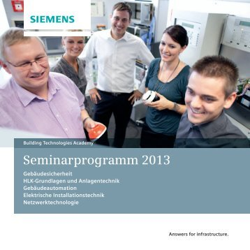 Seminarprogramm 2013 - Siemens AG