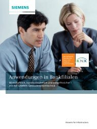 GAMMA Anwendungen in Bankfilialen - Siemens AG