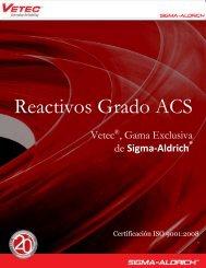 Reactivos Grado ACS - Sigma-Aldrich