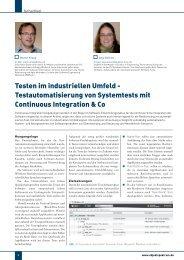 Testen im industriellen Umfeld - Testautomatisierung von ...