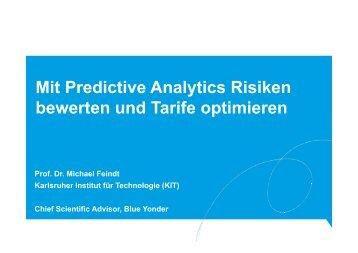 Mit Predictive Analytics Risiken bewerten und Tarife optimieren