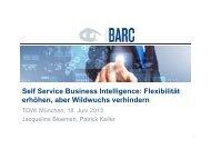 Self Service Business Intelligence: Flexibilität Self Service Business ...