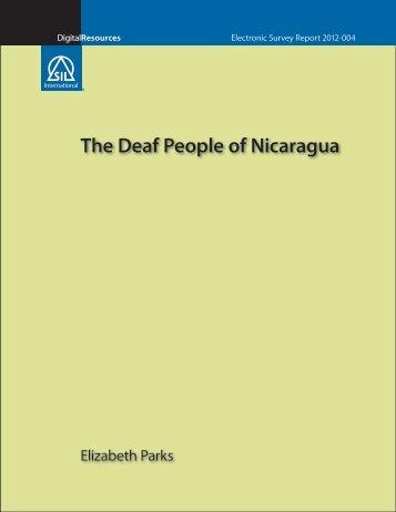 The Deaf People of Nicaragua - SIL International