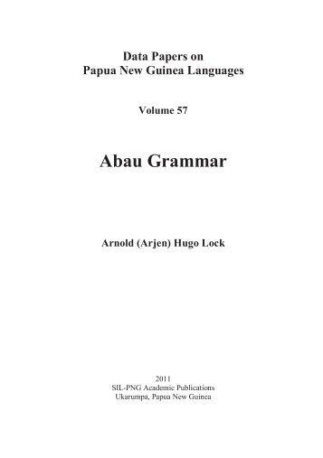 Abau Grammar - SIL International