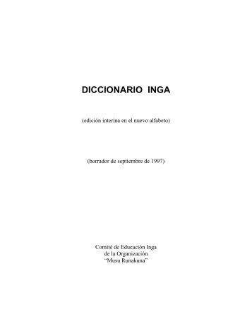DICCIONARIO INGA