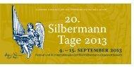 Programm Silbermann-Tage - Gottfried-Silbermann-Gesellschaft