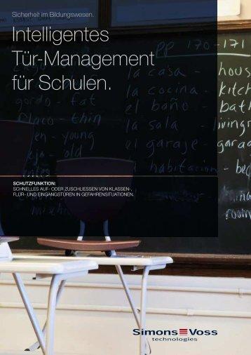 Broschüre WaveNet Schutzfunktion - Simons-Voss
