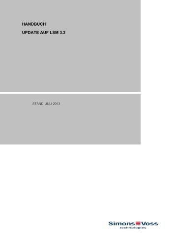 HANDBUCH UPDATE AUF LSM 3.2 - Simons-Voss