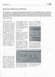 Kopplung zu Messung und Versuch - SimPack