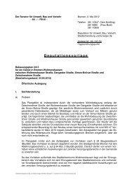Deputationsvorlage - Der Senator für Umwelt, Bau und Verkehr ...
