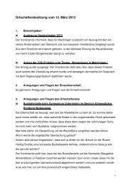 Protokoll ORM vom 13.03.2013 - bei der Stadt Sindelfingen