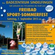 FREIBAD SPORT-SOMMERFEST - bei der Stadt Sindelfingen