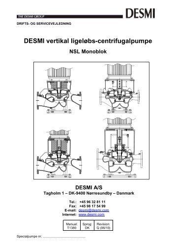 ROTAN PUMPE Tillæg til Manual T1456 Type ED DESMI A/S