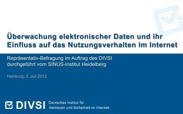 Überwachung elektronischer Daten und ihr Einfluss ... - Sinus-Institut