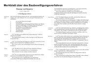 Merkblatt über das Baubewilligungsverfahren - Gemeinde Sirnach