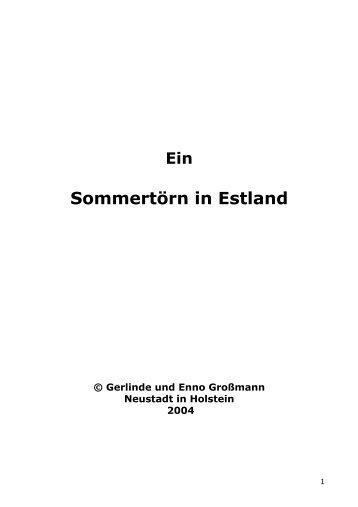 Ein Sommertörn in Estland - Sirius-werft.de