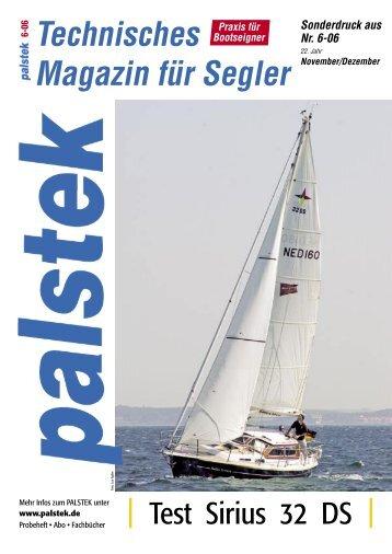 Technisches Magazin für Segler Sonderdruck ... - Sirius-Werft Plön