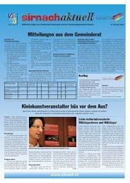 Mitteilungen aus dem Gemeinderat Kleinkunstveranstalter büx vor ...