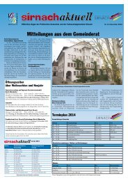 Sirnachaktuell November 2013 [PDF, 2.00 MB] - Gemeinde Sirnach