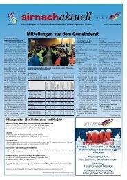 Sirnachaktuell Dezember [PDF, 1.00 MB] - Gemeinde Sirnach