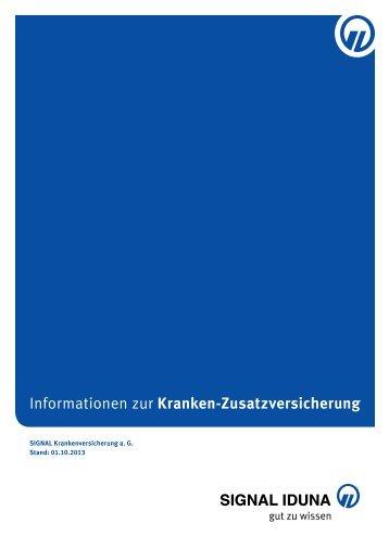 Informationen zur Kranken-Zusatzversicherung - SIGNAL IDUNA ...