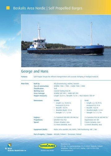 Boskalis Area Nordic | Self Propelled Barges George and Hans
