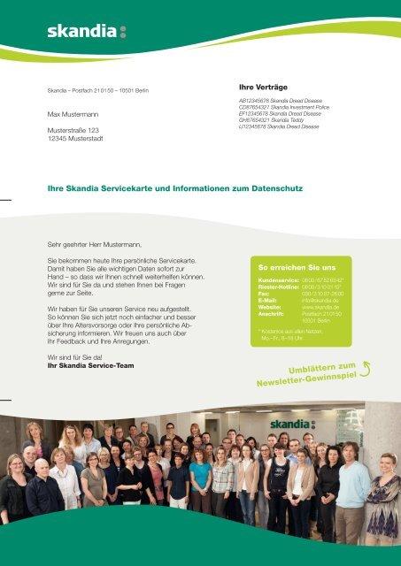Musteranschreiben - Skandia Lebensversicherung AG