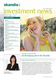 Investment News 3. Ausgabe 2013 - Skandia Lebensversicherung AG
