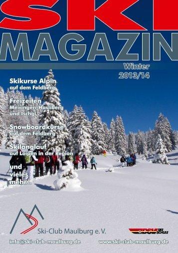 und Outdoormagazin 2014 - Ski-Club Maulburg eV