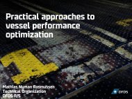 Practical approaches to vessel performance optimization