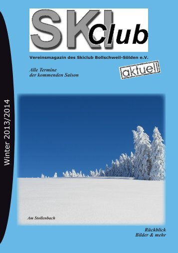 Winter 2013/2014 - des Skiclub Bollschweil Sölden eV