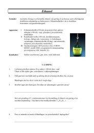 Ethanol-gæring, destillation og gaschromatografisk analyse