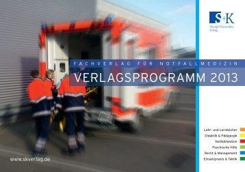 VERLAGSPROGRAMM 2013 - Stumpf und Kossendey Verlag