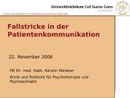 Fallstricke in der Patientenkommunikation