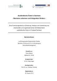 Ausländische Ärzte in Sachsen - Sächsische Landesärztekammer
