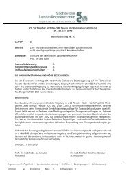 Beschlussvorlage 23. Sächsischer Ärztetag/48. Tagung der ...