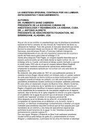LA ANESTESIA EPIDURAL CONTINUA: ANTECEDENTES Y ...