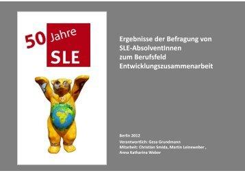 Ergebnisse der Befragung von SLE-AbsolventInnen ... - SLE Berlin
